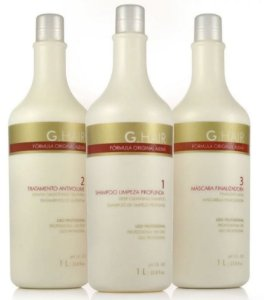 Ghair Kit Escova Alemã Inteligente Inoar - 3 x 1 Litro