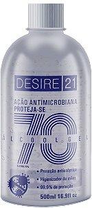Álcool em gel 70% higienizador para mãos anti-séptico 500ml
