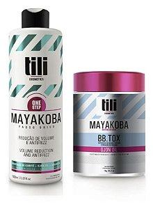 Kit Combo Escova Progressiva 1l + 2 Bbtox 1kg Tili Mayakoba