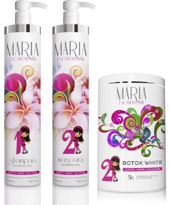 Kit Escova Progressiva Maria Escandalosa 1000ml + Beautox White 1kg