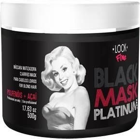 Máscara Negra Black Mask Platinum - Look Fine 500g