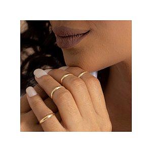 Anéis em ouro polido