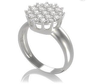 Anel chuveiro em ouro com diamantes