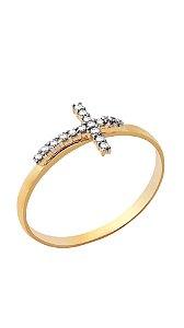 Anel Ícone em ouro amarelo 18k com diamantes