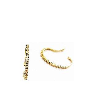 conch em  ouro (amarelo e branco)18K com diamantes
