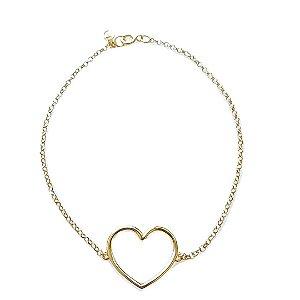 pulseira love em ouro amarelo 18k