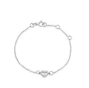 pulseira love em ouro branco com diamantes