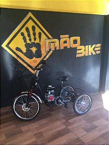 Triciclo motorizado 49cc motor 4 tempos Mão Bikes