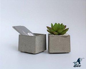 Mini Vaso em Concreto BE.104 - Kit com 2
