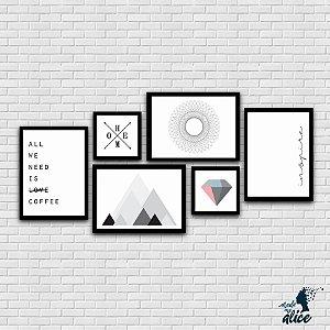 Composição ESCANDINAVA - Kit com 6 posters