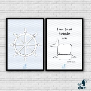 Posters MOBY DICK - Kit com 2