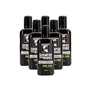 Shampoo para barba escura O Barbudo Pacote com 6