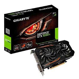 Placa De Vídeo Vga Nvidia Gigabyte Geforce Gtx 1050 Ti Oc 4GB