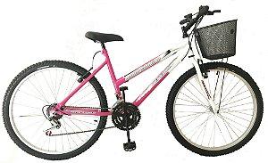 Depedal Mountain Bike 26 - Feminina ROSA/BRANCA