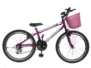Depedal Mountain Bike 24 Feminina - AERO VIOLETA