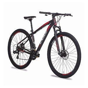 Bicicleta OGGI HACKER SPORT 2019 KIT 21V - VERMELHA