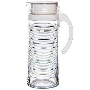JARRA MOTION AZUL OCEAN GLASS VIDRO TRANSPARENTE 1,3 LITROS