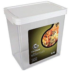 Pote Cick Clak para Mantimentos Essential Branco 4,3 litros