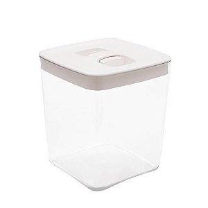 Pote Para Mantimento Cube Clickclack 3,3 Litros Branco