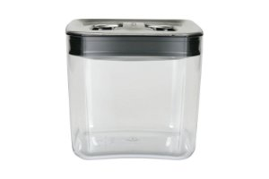 Pote Para Mantimento Cube Clickclack 3,3 Litros Preto