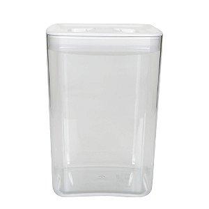 Pote Space Cube 4,3 Litros Branco Click Clack