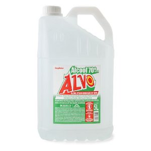 Álcool líquido 70° 05 lt p/ mãos  Hospitalar - Alvo