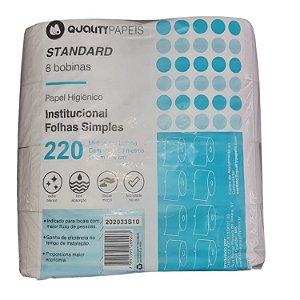 Papel higienico Rolao 8x220m Standart Celulose - Quality