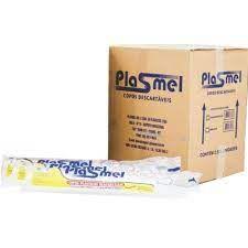 Copo descartavel cx 180 ml transp c/ 2.500 PS- Plasmel