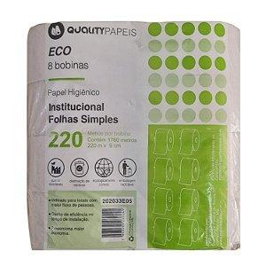Papel higienico Rolao branco 8X220 Eco - Quality