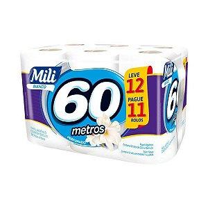 Papel higiênico f.simples 12x60 Metros - MIli