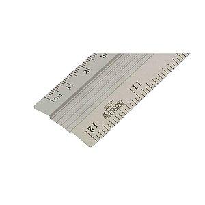 Régua Alumínio 30 Centímetros BRW Unitário - RE1000