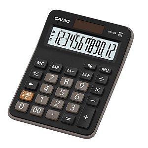 Calculadora Eletrônica de Mesa 12 Dígitos Preto Casio - Unitário - MX-12B-S4-DC