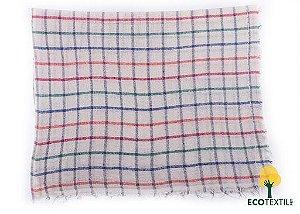 Saco alvejado 68x43 xadrez Quadriculado  algodão - eco têxtil