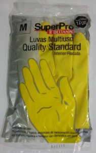 LUVA LATEX  STANDARD QUALITY  P, M, G SUPERPRO Bettanin
