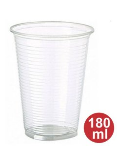 Copo descartavel pct 180 ml transp PS 1x100 - Cristal