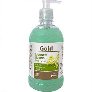 Sabonete liq  500ml gold erva doce pump - Audax