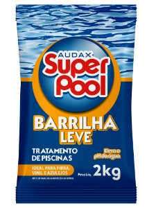 BARRILHA LEVE ELEVADOR DE PH PARA PISCINAS 2KG AUDAX SUPER POOL