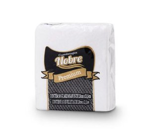 Guardanapos Papel 20x21cm Branco 50un Nobre Premium