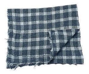 Saco alvejado 50x70 xadrez  algodão - eco têxtil
