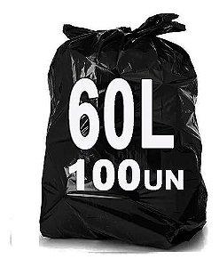Saco lixo pt 60lt leve 1,020kg pct c/100 und