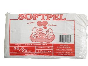 PAPEL INTERF PCT 20X20,5 BRANCO SOFTPEL 700 GR