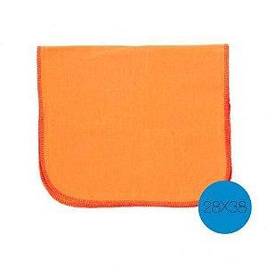 Flanela  g 38x58cm laranja pratica