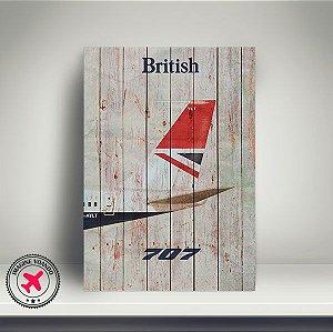 Quadro Aviação Vintage B707 da British Airways