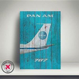 Quadro Aviação Vintage B707 - PanAm