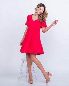 Vestido Malha gola v Nani curto vermelho