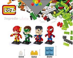 Mini Bloco De Montar LOZ Vingadores DC Comics Marvel Herói Original