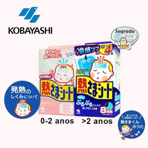 Kobayashi Gel Adesivo Para Combate A Febre Japonês Embalagem Com 2 Gels