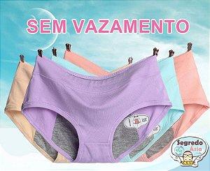 Calcinha Para Menstruação Anti Vazamento Sem Forro Frontal Shapewear