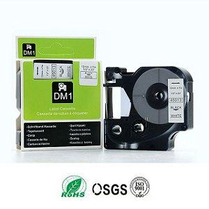 Fita Compativel D1 45013 P/ Rotulador Dymo Label 12mmx7m