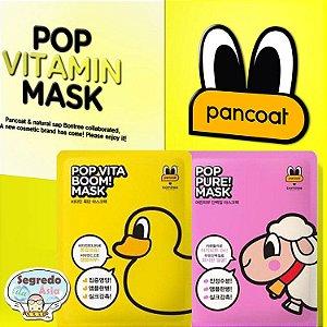 Máscara Facial Coreana POP VITAMIN MASK Borntree x Pancoat Edição Limitada
